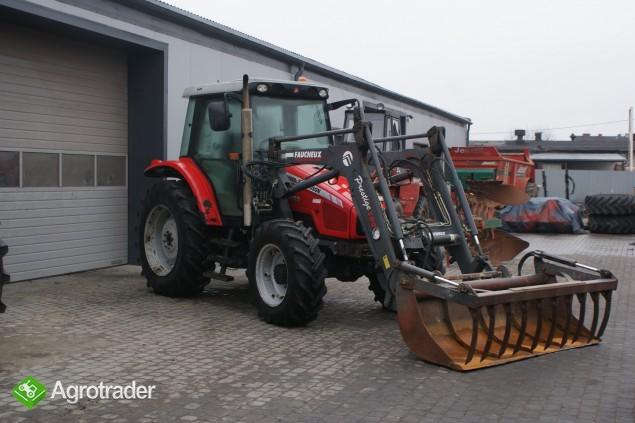 Ciągniki rolnicze MASSEY FERGUSON 5455+ŁADOWACZ FAUCHEUX Renault  - zdjęcie 4