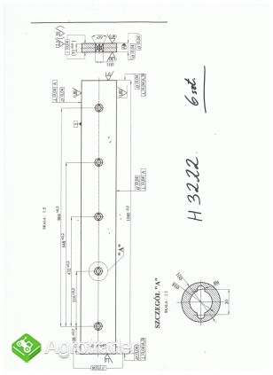 Nóż do gilotyny H3222 1080 x 140 x 35 mm (komplet) - zdjęcie 1