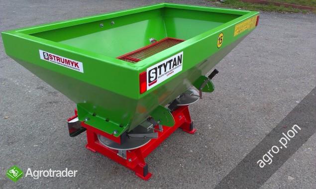Rozsiewacz nawozów dwutarczowy 600 l 800 l 1000 litrów Strumyk TYTAN - zdjęcie 2