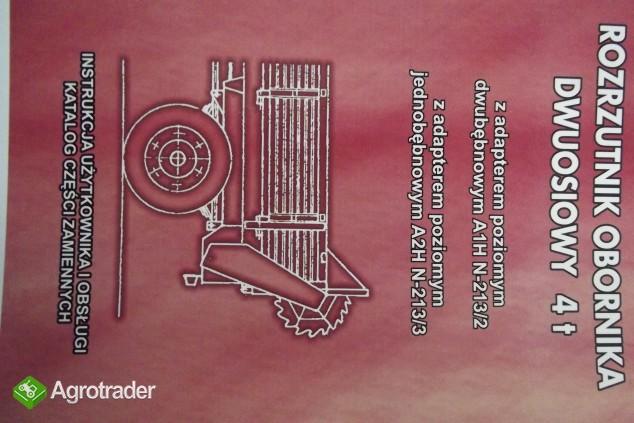 Katalog części, instrukcja obsługi Rozrzutnik Obornika Dwuosiowy 4 T