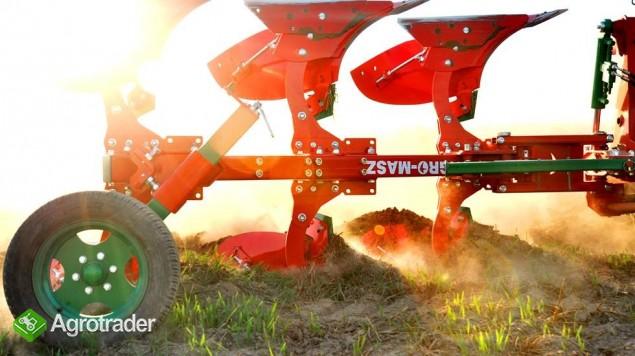 Pług pługi obrotowy obracalny mały Agro-Masz zabezpieczenie zrywalne - zdjęcie 3