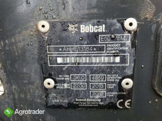 Koparka Bobcat E50 z 2013 roku - sprzedam - zdjęcie 6