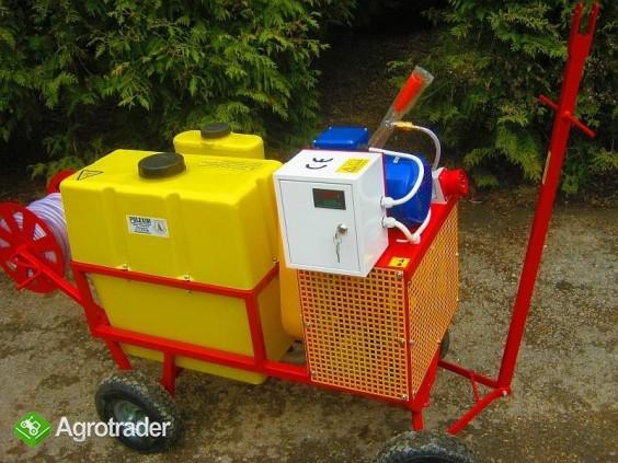 OPRYSKIWACZ ELEKTRYCZNY WÓZKOWY 80L, SILNIK 3 kW, 14-22l/min - zdjęcie 3