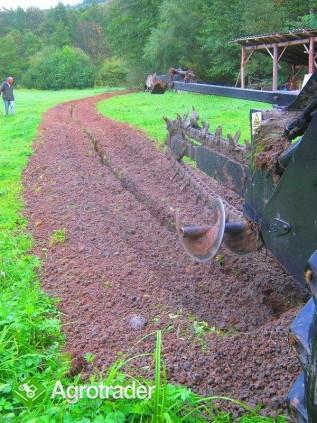 Koparka łańcuchowa napędzane z ciągnika rolniczego 220 cm - zdjęcie 4