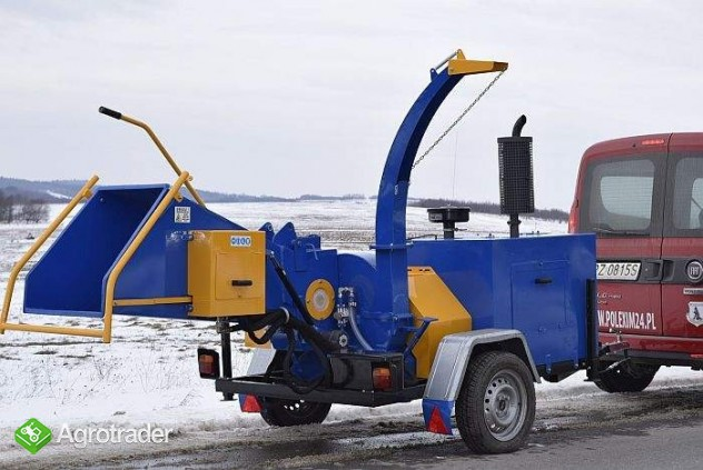 Rębak tarczowy z silnikiem Diesla 4 cylindry:  moc 40 KM. Hydraulika - zdjęcie 5