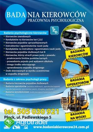 Psychotesty kierowców i operatorów maszyn
