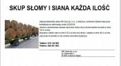 Firma Dm Celus - Jordanów Śląski - kupimy słomę, siano, rzepak