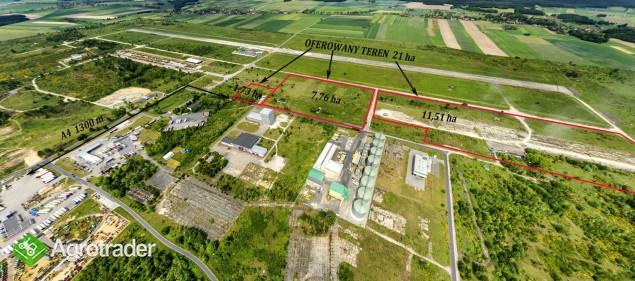 21 ha teren inwestycyjny przy A4, A18 MPZP, media, idealny dojazd   - zdjęcie 2