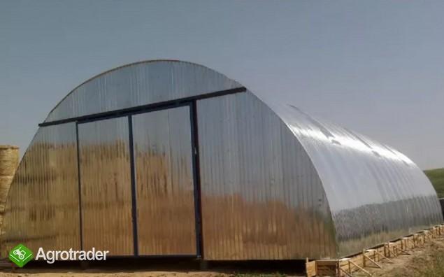 HALA łukowa tunelowa magazynowa hangar 11,8 x 20 - zdjęcie 2
