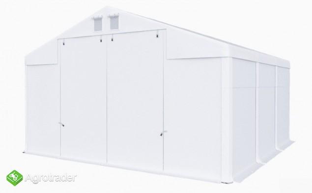 Hala namiotowa całoroczna 5×6 × 2,5m/3,41m wiata garaż solidny - zdjęcie 2
