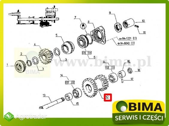 Używane koło zębate wom z16/21 Renault CLAAS 103-12 - zdjęcie 3